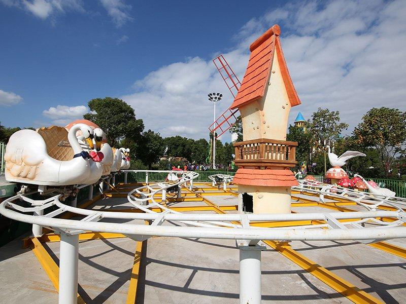 Roller Coaster SWAN COUNTY Spin Tackle Train Family Midway Rides