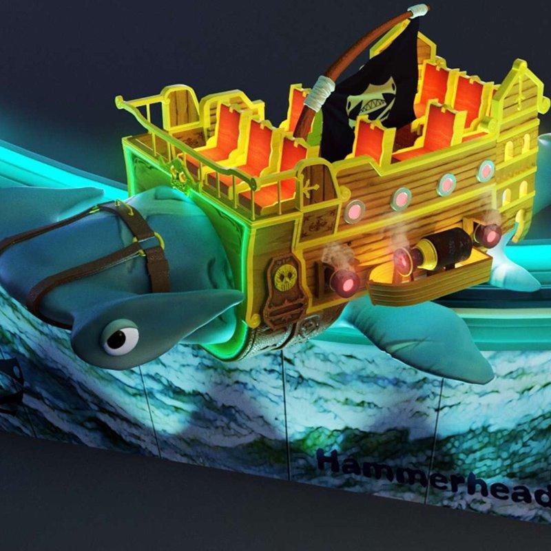 Racing Car Rides Hammerhead Shark