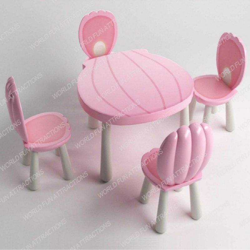 Children Chair Set(Pink Shell)
