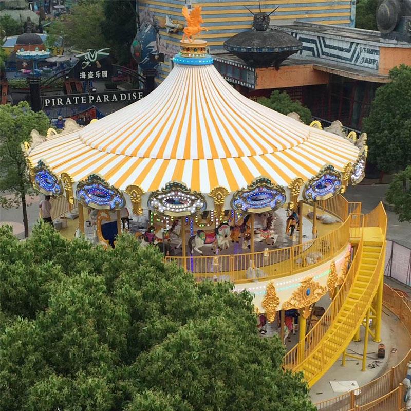 38P European  Golden Deluxe Carousel