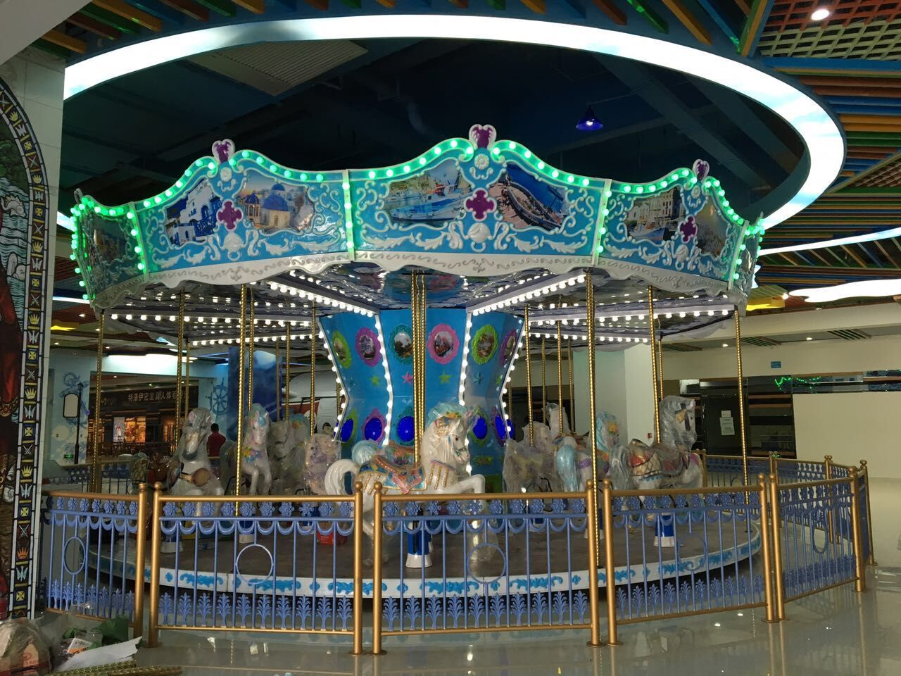 World Fun Attractions-Find 24p Ocean Carousel On World Fun Attractions Amusement Equipment
