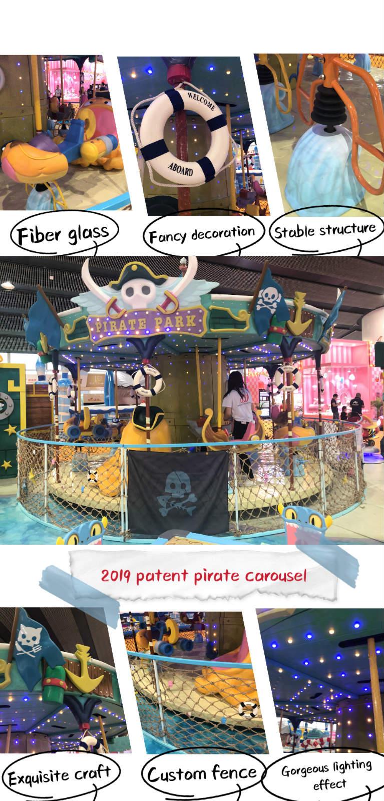 World Fun Attractions-High Quality Caribbeanisland-pirate Eddy Carousel | Carousel-5